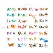 Decowall,DA-1308L,Large Alphabet Animals peel & stick Nursery wall decals stickers