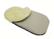 Comfortable Baby Sleeping Bag to Pushchairs Footmuff Cover Wool Light Grey
