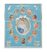 Tiny Ideas Baby's First Year Picture Frame, Silver/Blue by Tiny Ideas