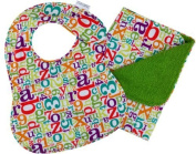 Iota Newborn Bib and Burp Set, Alphabet Soup by Iota