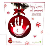 Pearhead Tiny Ideas Baby's Print Ball Ornament Red Gold Marker by Pearhead