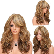 """Wigs 65cm / 26"""" Women's Hair Wig Fashion Long Big Wavy Heat Resistant Mixed Colourful Wig for Cosplay Party Costume"""