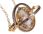 "Necklace and metal pendant. Series HARRY POTTER. Model ""Hermione - Time-Turner"". Gold colour."
