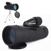 Eyeskey 10X50 High Power Monocular - Waterproof /Fogproof Mini Telescope - Sharp and Bright Wide of View - with Side Hand Strap and Tripod - for Hiking, Hunting, Climbing, Birdwatching Watching, Wildlife and Scenery