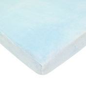 American Baby Company Heavenly Soft Chenille Bassinet Sheet, Blue by American Baby Company