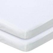 Babies R Us Knit Bassinet Sheet 2 Pack - White by Babies R Us