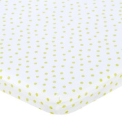 Babies R Us Percale Bassinet Sheet - Lime Dot by Babies R Us