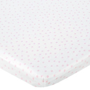 Babies R Us Knit Bassinet Sheet - Pink Dot by Babies R Us