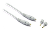 G & BL 1m Optical Cable with 2 Toslink Plugs and 3.5m Adapter - White