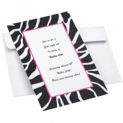 Wilton 1008-1625 Zebra Invitation Kit, 12 Count