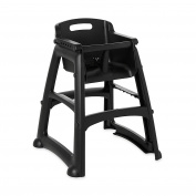 Rubbermaid Commercial Sturdy Chair High Chair, Black, FG781408BLA