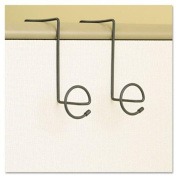 Safco Products 4148CH PanelMate Over the Panel Double Wire Coat Hook, Charcoal