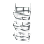 Safco Products 4151CH PanelMate Triple File Basket, Letter Size, Charcoal
