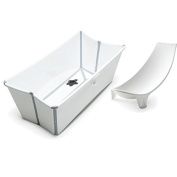 Stokke Flexi Bath in White with Newborn Support by Stokke