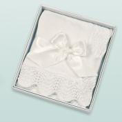 Bearington Baby White Vintage Blanket by Bearington