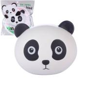 Vlampo Squishy Stress Toys Soft Squishies Slow Rising Panda Head 11cm 1 Piece