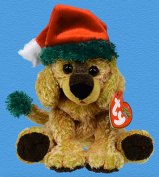 TyTy Beanie Babies - Jinglepup the Dog with Green Brim and Green Tail - Holiday