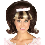 60's Princess Brown/Blonde Combo Wig, One Size, Brown/Blonde
