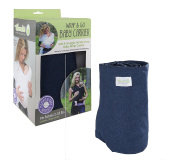 Woombie Wrap & Go– Easy and Natural Hands-Free Baby Carrier , Heathered Navy, 0.9-16kg