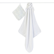 aden + anais Hooded Towel and Washcloth Set - Magical Tail