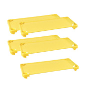 ECR4Kids Stackable Assembled Standard Kiddie Cots (5 Pack), Canary Yellow