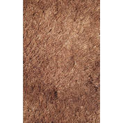 LA Rugs Silky Shag Brown Area Rug SSC-67