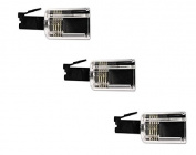Rotating 360 Telephone Cord Detangler, Pack of 3 Clear/Black DragonTrading®