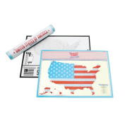 Scratch Map USA Travel Edition - Travel Sized Personalised World Map Poster, Travel Gift - Luckies of London