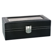Hoomall 4 Grids Watch Display Box Case Faux Leather