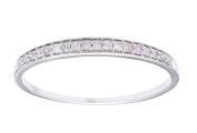 10k Rhodium-Plated White Gold Milgrain Diamond Wedding Band