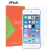 iPod Touch 6 Screen Protector, VPR [2 Pack] Premium Tempered Glass [Ultra-Clarity] [Highly Responsive] [No-Bubble Installation] for iPod Touch 6th, 5th Generation,