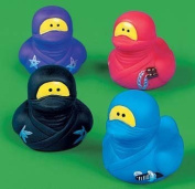 Ninja Rubber Duckies per Dozen