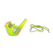 Puuli Bird Shaped Water Whistle Bird Whistle Water Whistle Colour Painting Bath Toy with Sling
