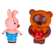 Russian Winnie the Pooh and the Piglet Bath Toy Set