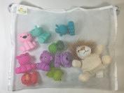 #1 Bath Toy Organiser + 2 Extra Hooks! Keeps Toys Safe & Clean! Get Organised!