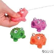 One Dozen Vinyl Frog Squirts/Bath Tub Toys/Water Toys/Pool and Beach Toys/Water Squirts by Oriental Trading Company