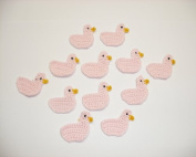 12 Duck Crochet Light Pink