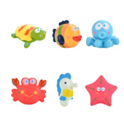 Acefun Sea Animals Floating and Squirting Bath Toy Rubber Baby Bath Toys