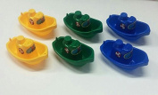 New! beautiful six (6) stackable tugboats bathtub, pool & sand toy for kids!