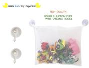 Gigi's Bath Toy Organiser + 2 Bonus Durable Suction Cups with Hooks