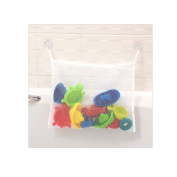 Bath Toy Mesh Bag Organiser for Baby Bath Toys with Strong Hooked Suction Cups