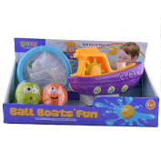 FunsLane Baby Bath Toys Bundle with Balls and Boat for Fun Bath Time