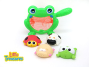 Baby Bath Frog Fishing Playset Bathtub toy set for  .   toddlers; mini frog, piggy, cow and lady bug, amazing toy set