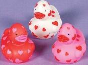 Vinyl Mini Valentine Rubber Ducky