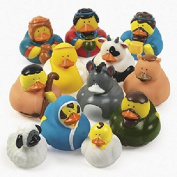 Lot of 12 Nativity Scene Rubber Ducks Chirstmas Holiday