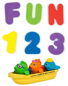 Munchkin Bath Letters & Numbers with School of Fish Bath Toys