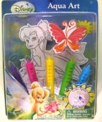 Tinkerbell Bath Tub Aqua Art Draw in the Tub 5 Crayons , Sponge and Decal