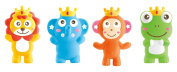 Little Treasuress Teether Toy, 3-in-1 Squeeze, Whistle, Bath Toy Includes 4 Individual Characters