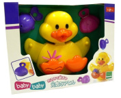 A series cheerful duck Let's Play in a bath
