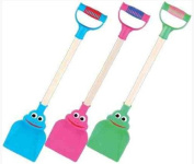 PACK OF 3 - Children's Frog Spade Toys - Assorted Colours